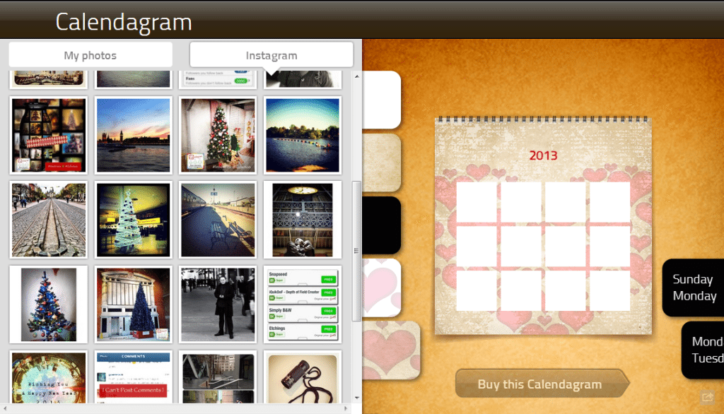 Calendagram Create Web