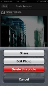 EyeEm - Edit Photo Menu Item