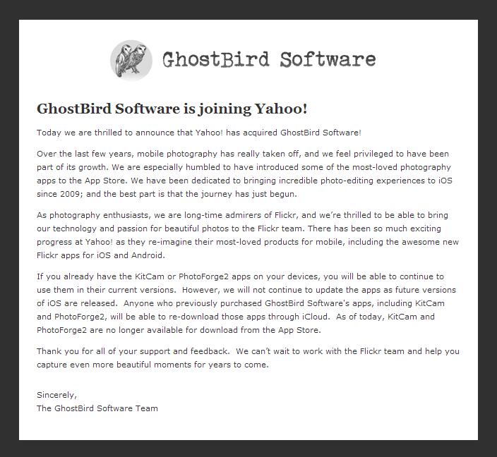 Ghostbird-Announcement
