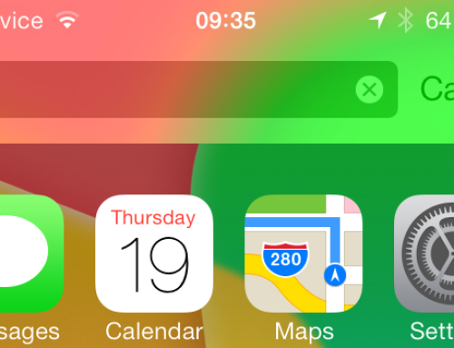 Where Is The Spotlight – The Search Page in iOS 7!