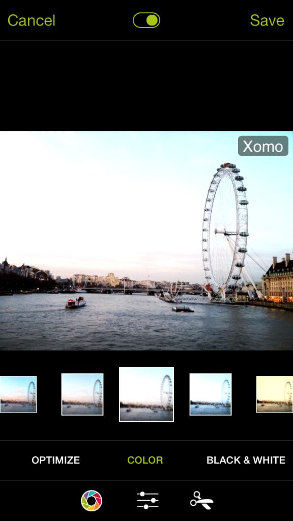 ProCamera 7 - Xomo Filter