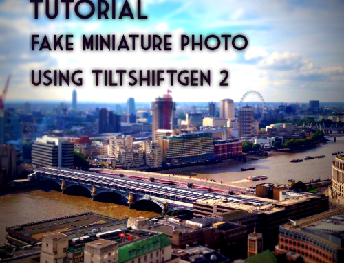 Fake Miniature Photos – How To Create Them Using TiltShiftGen 2