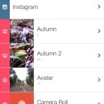 You can select photo from Instagram or your Photo Album