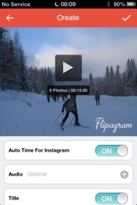 Turn On Instagram Auto Time to set the slide show time to maximum 15 seconds