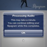 Flipagram will process the selected audio