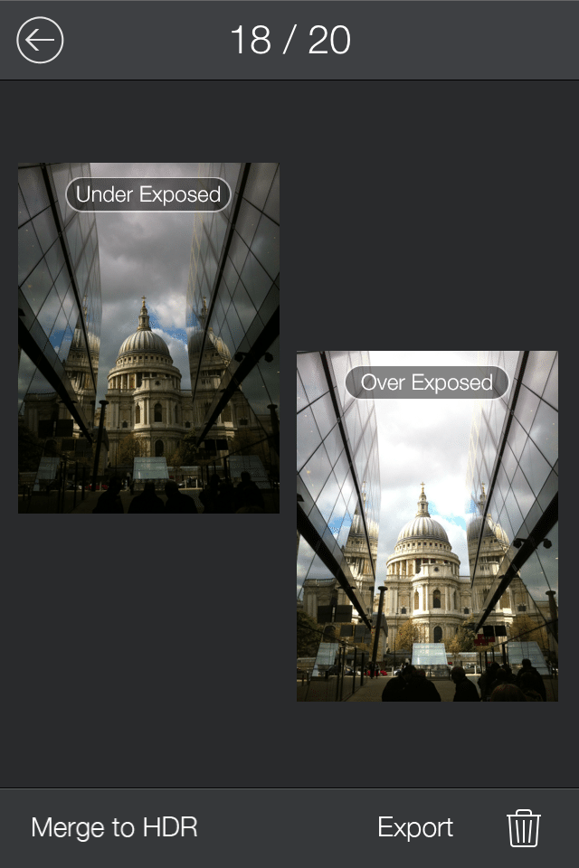 Fotor HDR - Creating HDR from 2 different Exposed images