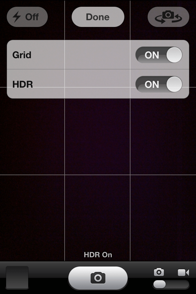 iOS 6 - HDR Option
