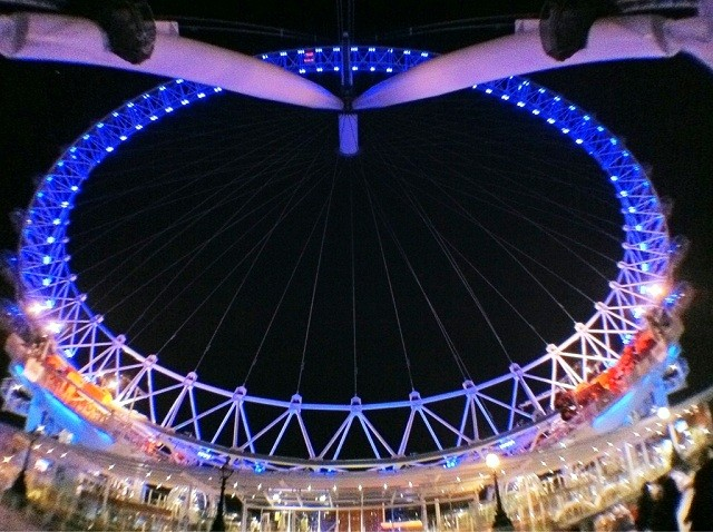 The London Eye - taken with Olloclip Fisheye Lens