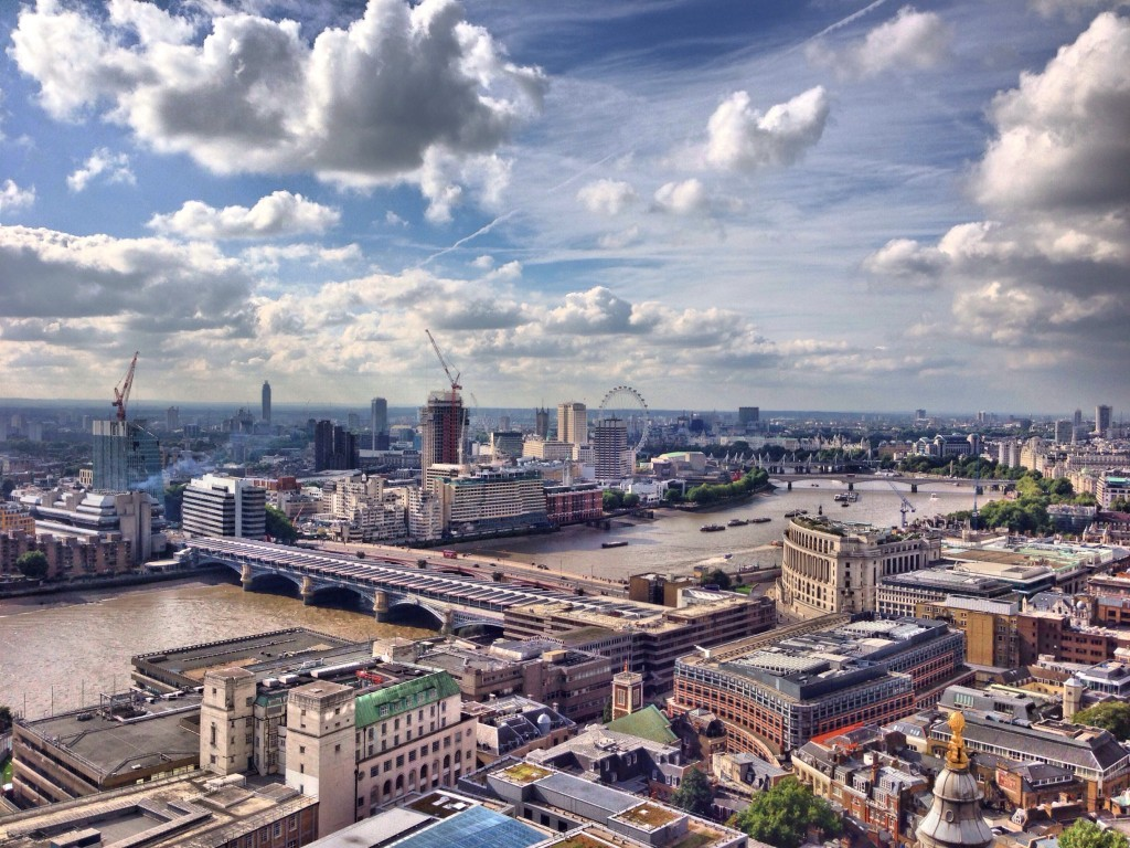 London Skyline in HDR - created using Fotor HDR