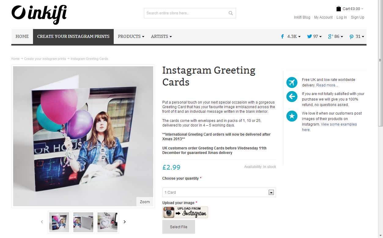 5 online services to turn your instagram photo into a unique and inkifi greetingcards kristyandbryce Images