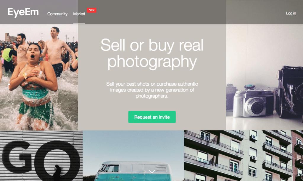 EyeEm Market Frontpage