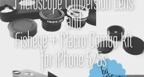DCKina Microscope Conversion Lens and Fisheye-Macro Kit for iPhone 5/5s