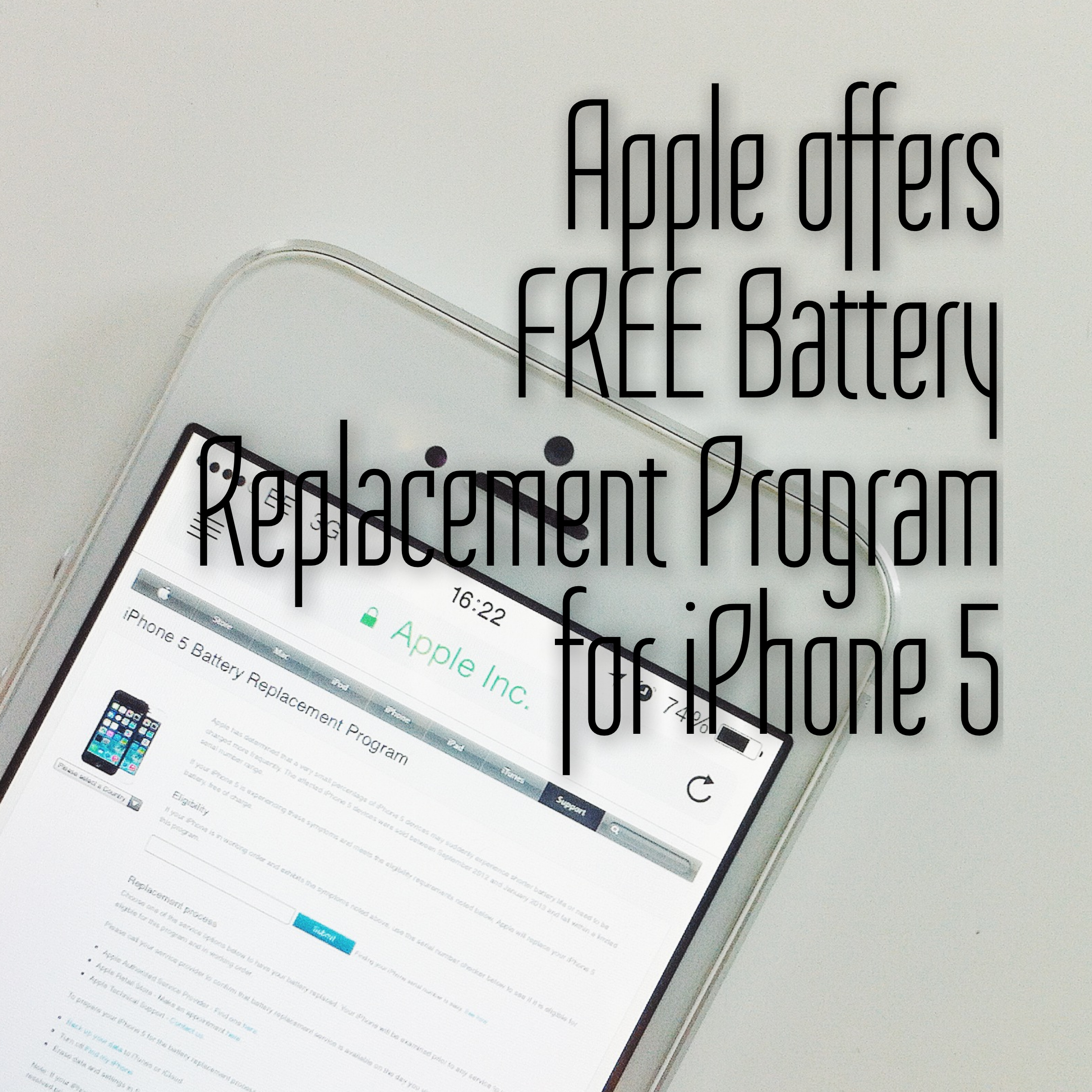 Apple Offers Battery Replacement Program for iPhone 5
