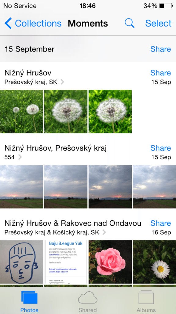iOS Photos - Moments View