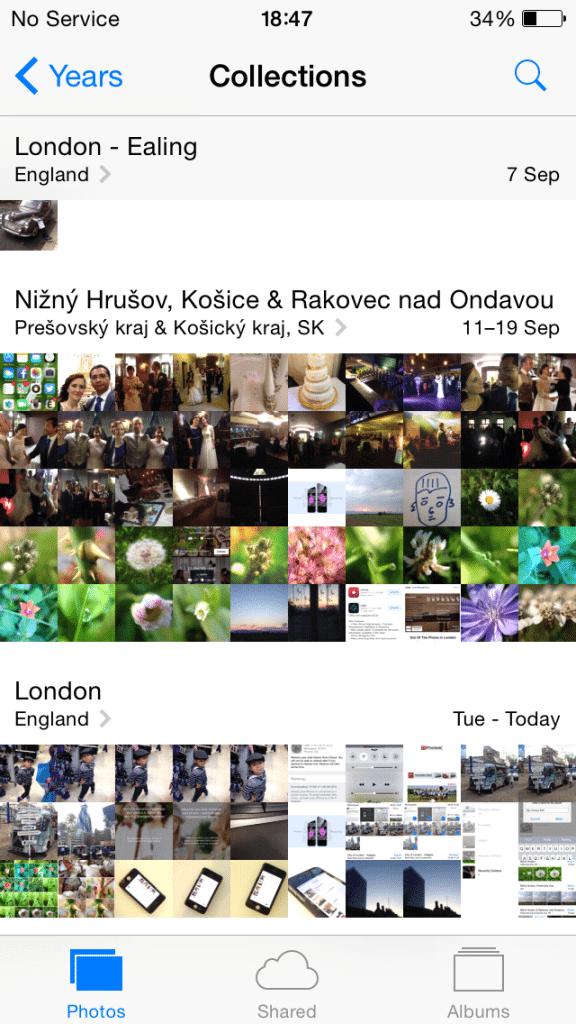 iOS Photos - Collections View