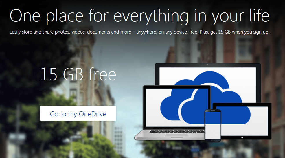 OneDrive 15GB Mobile Upload for a Total of 30GB Free Storage