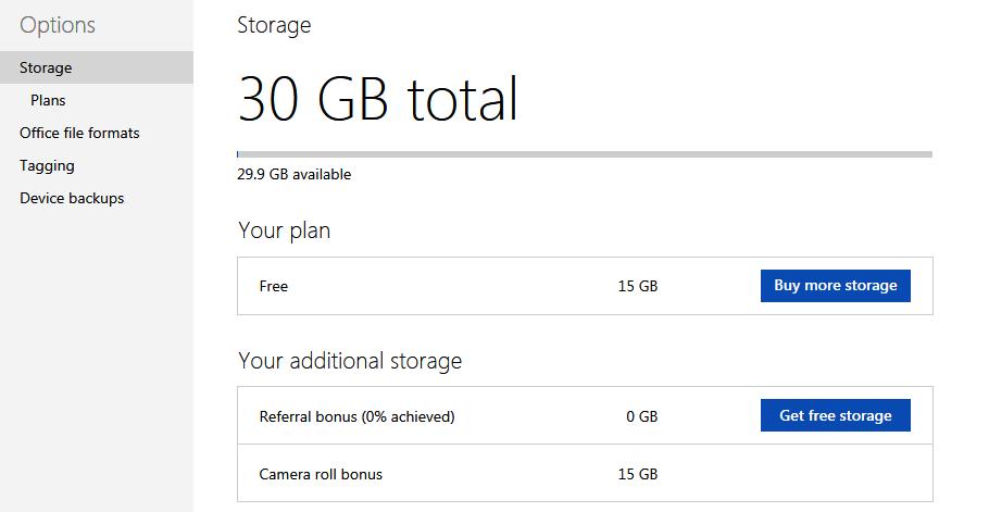 OneDrive Total 30GB