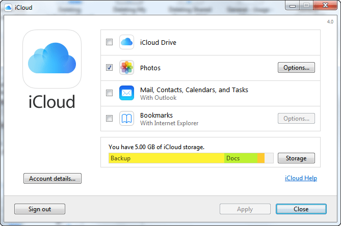 how to  pictures from icloud to my pc