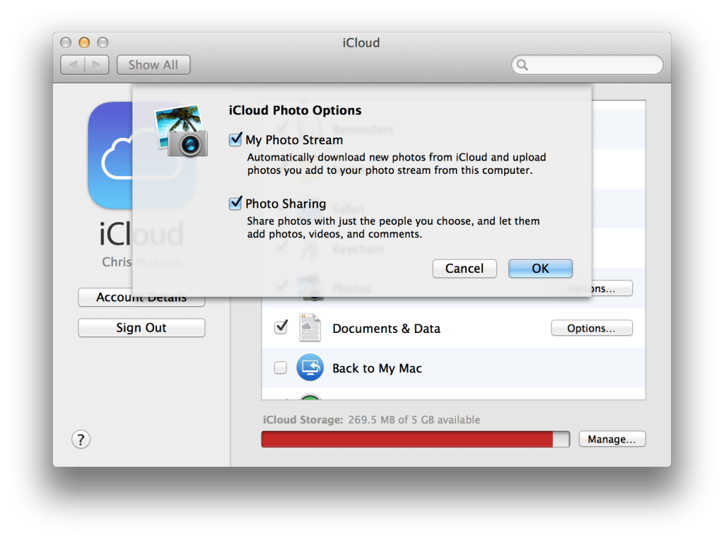 Turn On Photos -> Photo Stream (Mac)