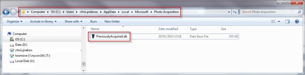 How to 'forget' Photos/Videos that Windows had downloaded
