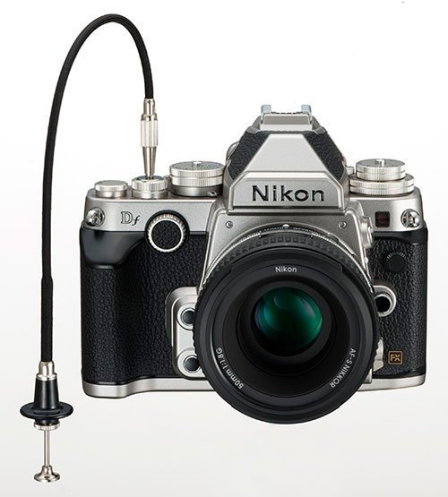 Remote Cable Release attached to an SLR