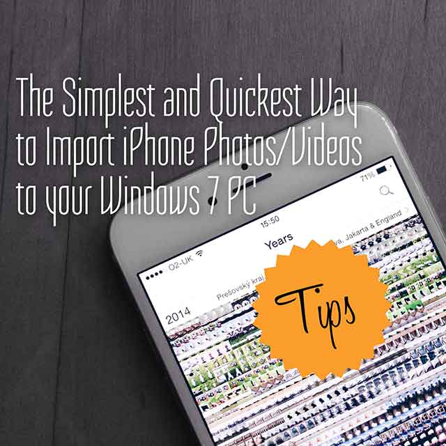 The simplest and quickest way to import iPhone photos/videos