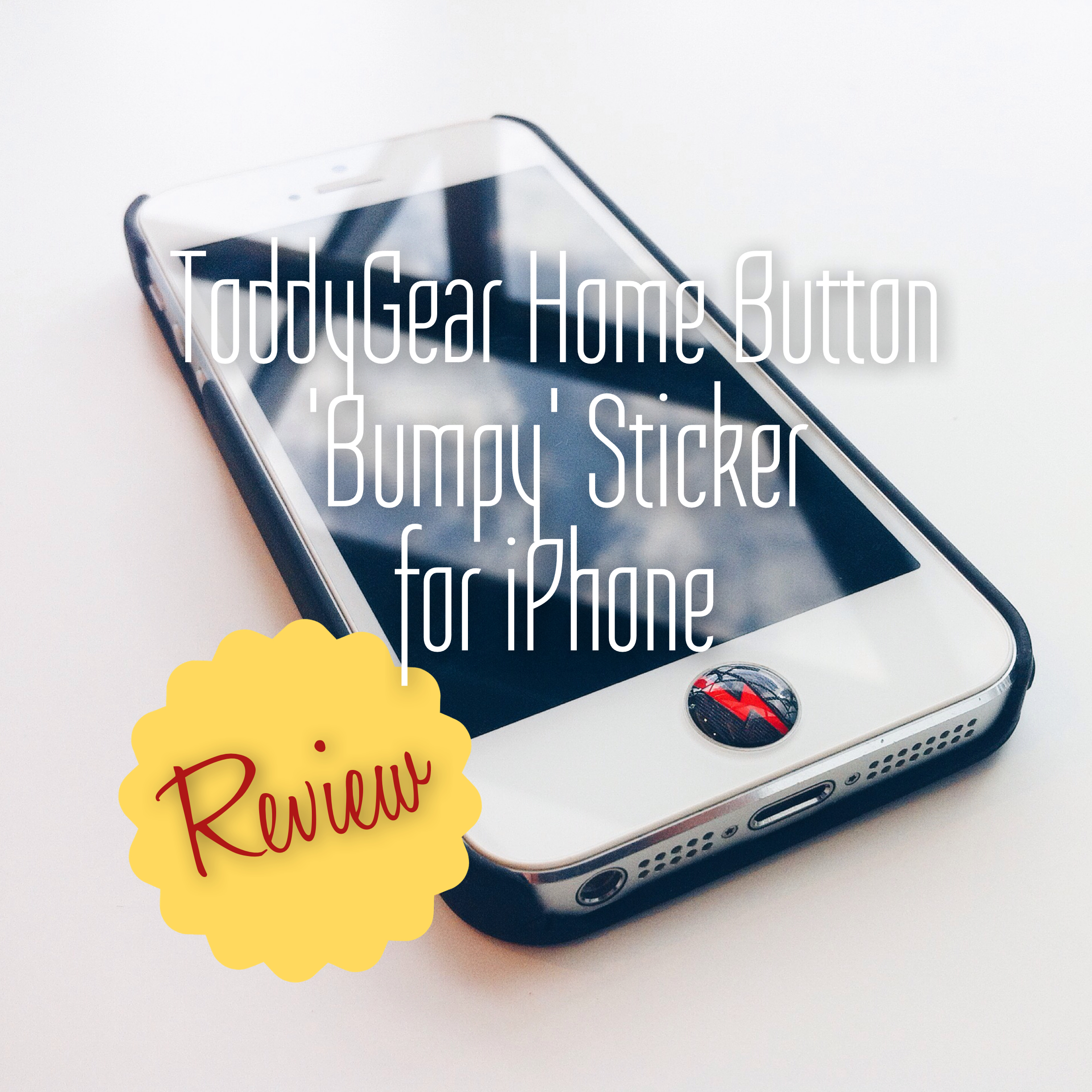 personalise your iphone with toddygear home button bumpy sticker