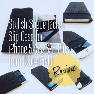 Waterfield iPhone Suede Jacket - Slip Case