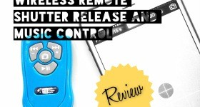 Square Jellyfish Wireless Remote Shutter Release and Music Control for Apple and Android Smartphones