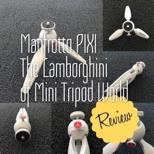 Manfrotto PIXI - The Lamborghini of Mini Tripod World