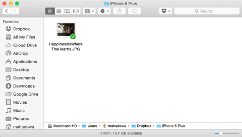 Dropbox upload photos via Desktop app
