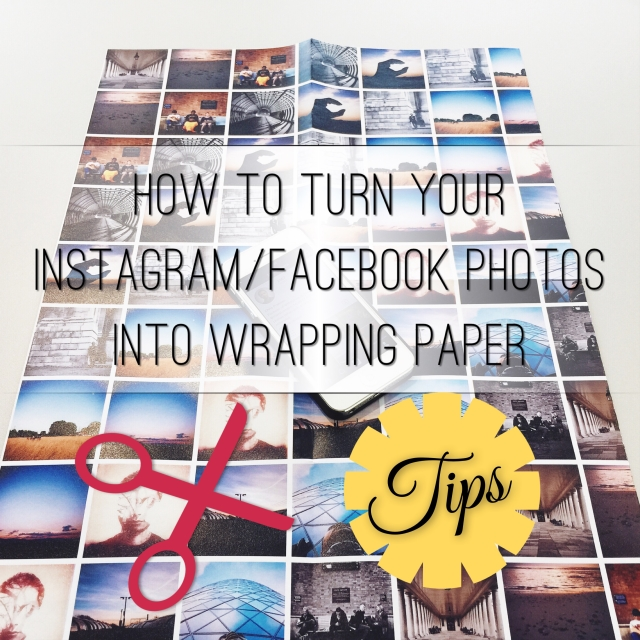 How to turn your Instagram/Facebook Photos into a personalised wrapping paper
