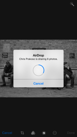 AirDrop receiving