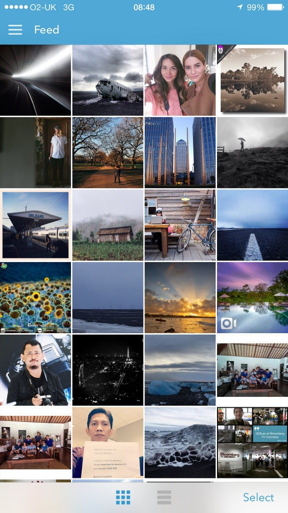 Instagrab Main Feed - Thumbnail View