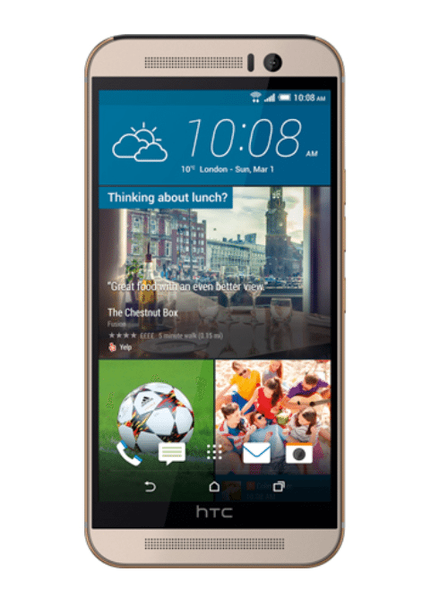 HTC M9 silver - Front