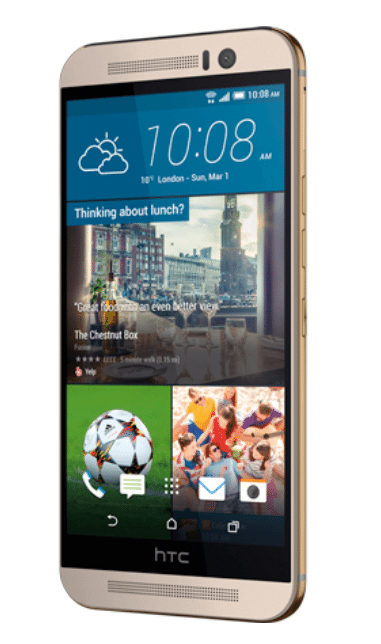 HTC M9 silver - Lateral