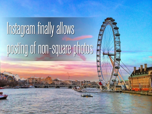 Instagram allows posting of non-square photos