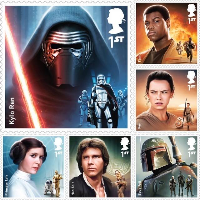 Star Wars The Force Awaken Commemorative Stamps
