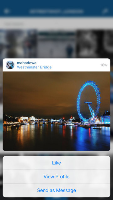 Have a Peek at your Instagram Profile Page - More Actions