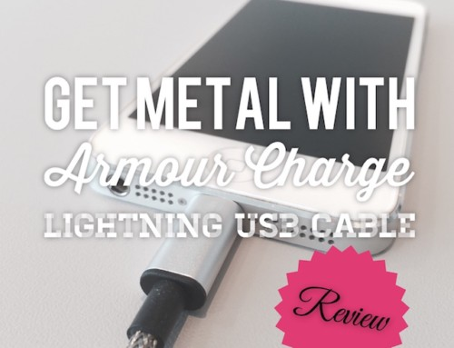 Go Full Metal with Armour Charge Lightning USB Cable!