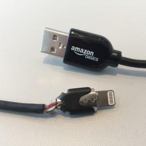 Frayed Amazon Lightning cable