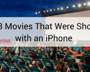 20 movies that were shot with an iphone - people watching movie in a big screen in an open area.